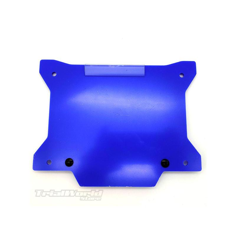 Blue trial bike number holder