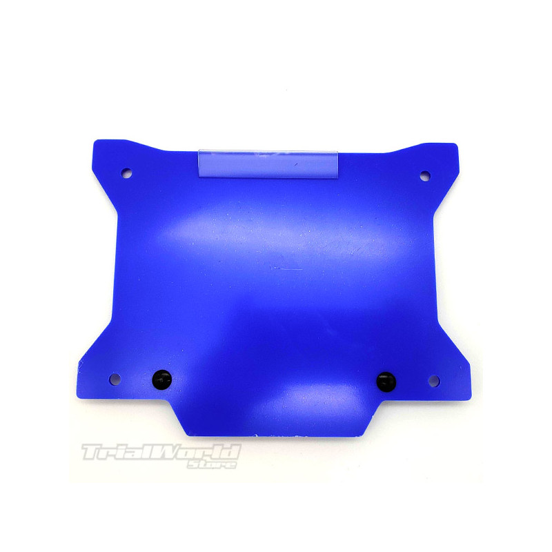 Porta números moto de trial azul