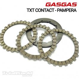 Kit discos de embrague GASGAS TXT Contact y PAMPERA1998 a 2003