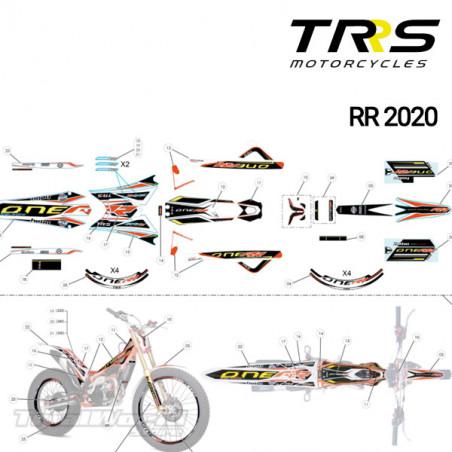 Kit Adhesivos chasis y basculante TRRS Raga Racing RR 2020