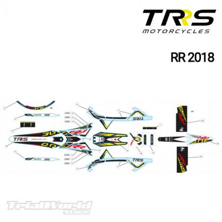 Adhesivo faro delantero TRRS Raga Racing RR 2018