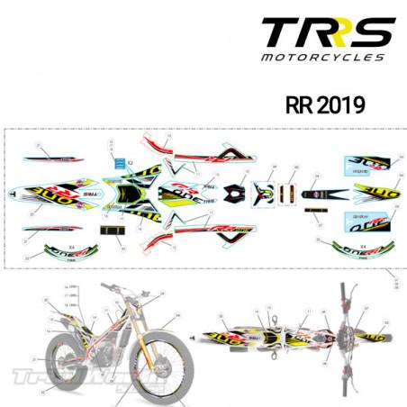 Adhesivo faro delantero TRRS Raga Racing RR 2019