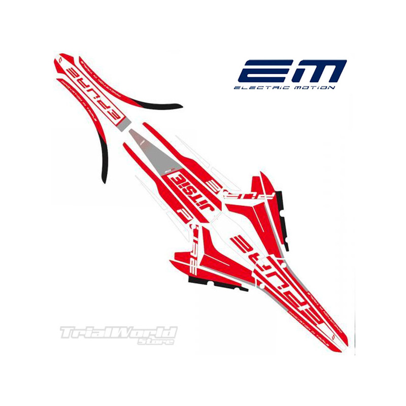 Kit adhesivos Electric Motion Epure Stealth rojo