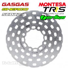 Rear brake disc trial NG...