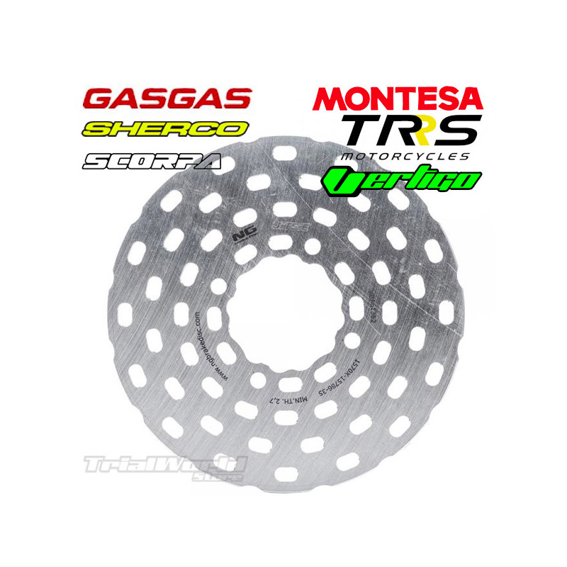 Rear brake disc trial NG FIM approved