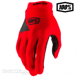100% RIDECAMP red Trial Gloves