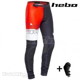 Pantalón Trial Hebo PRO 22 negro y rojo