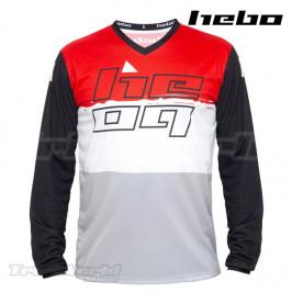Camiseta Trial Hebo PRO 22 rojo y blanco