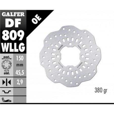 GALFER approved trial rear brake disc