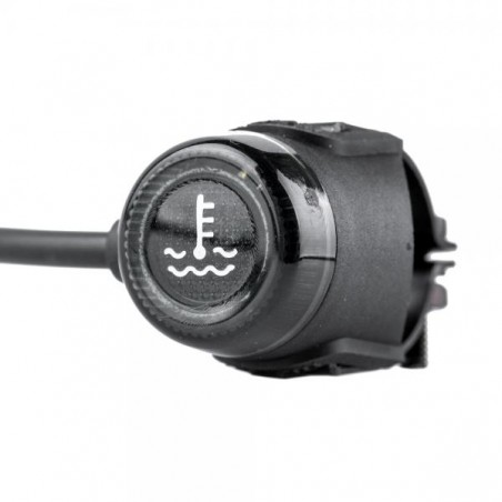 Temperature sensor with alarm light