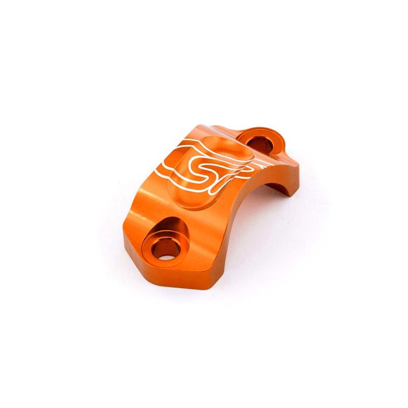 Abrazadera Bomba Freno/Embrague AJP/Braktec. Naranja.