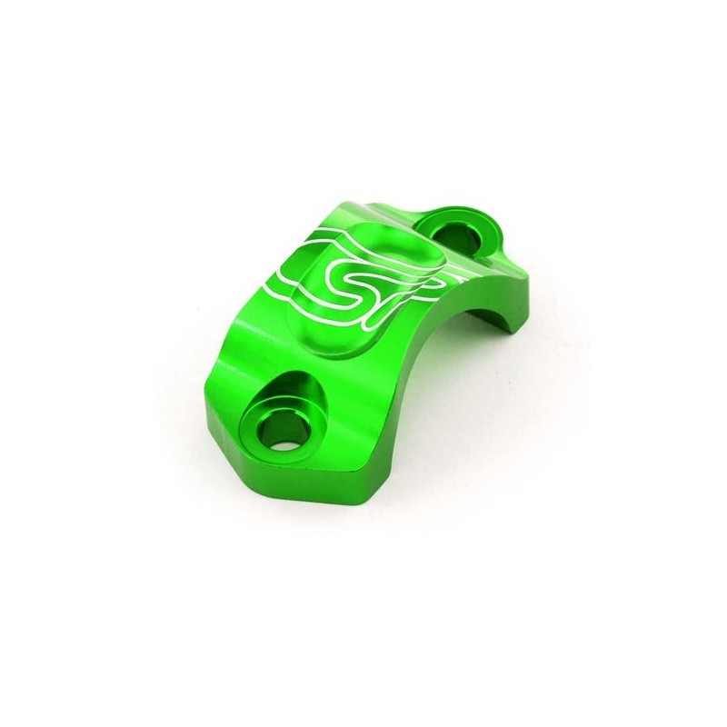 Abrazadera Bomba Freno/Embrague AJP/Braktec. Verde.