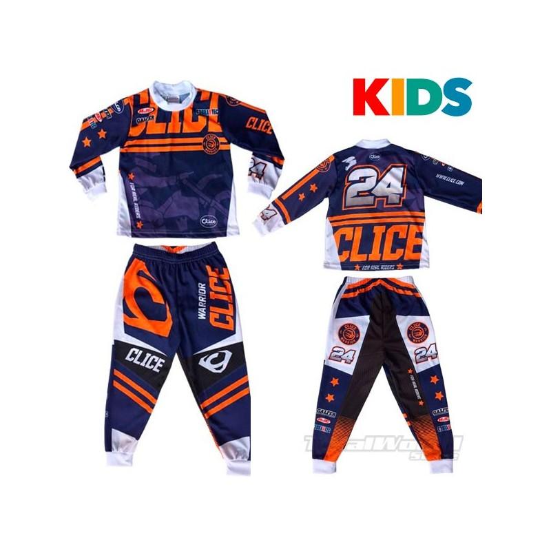 Pyjama Clice Kids motorbike blue
