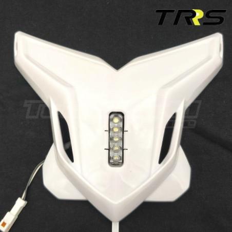 Faro delantero trial blanco TRRS