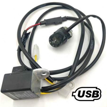 Cargador USB para motos de trial y enduro