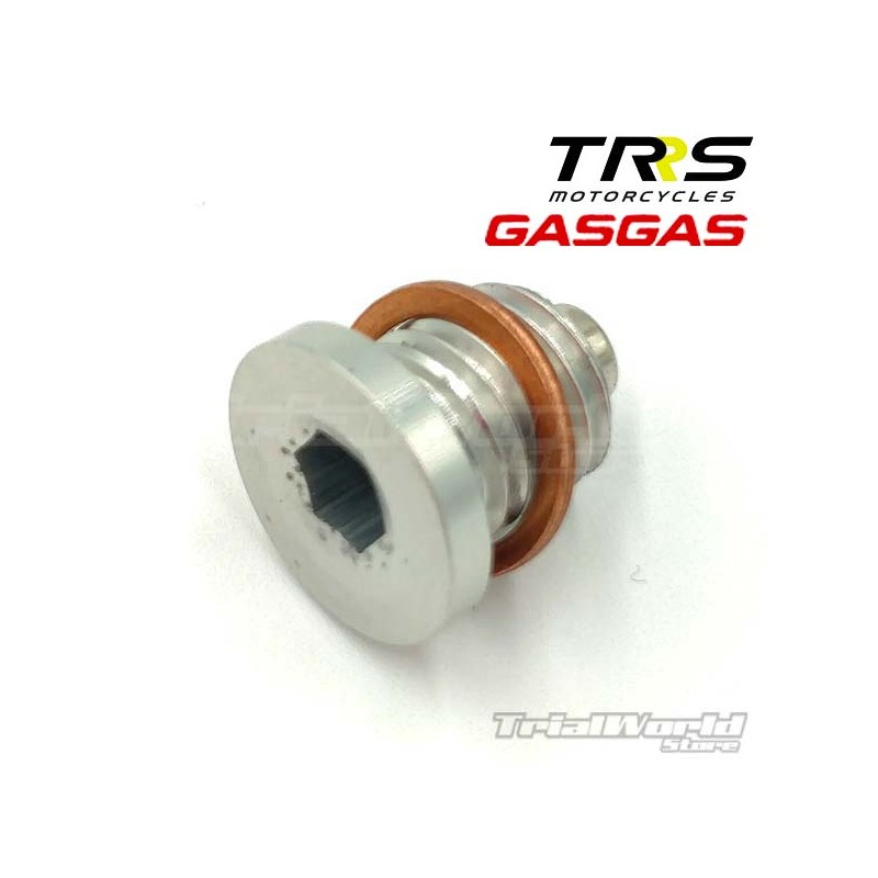Trial oil drain plug with magnet
