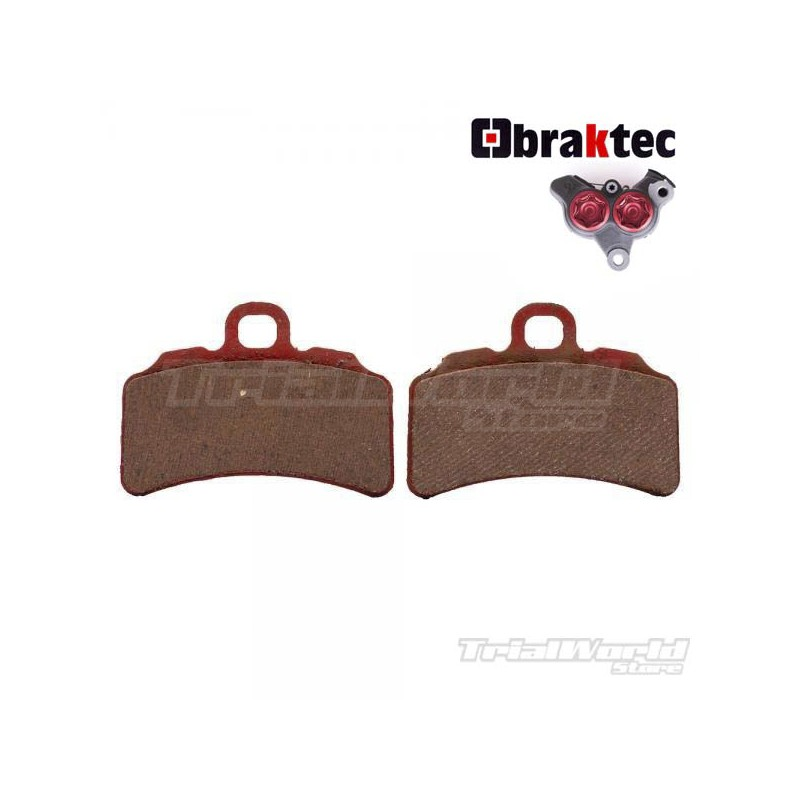 Braktec caliper GALFER front brake pads