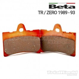 Beta Zero and TR front brake pads