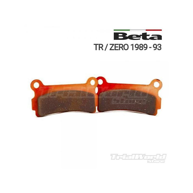 Pastillas de freno trasero Beta Zero y TR