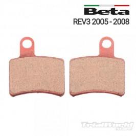 Pastillas de freno trasero Beta REV 3