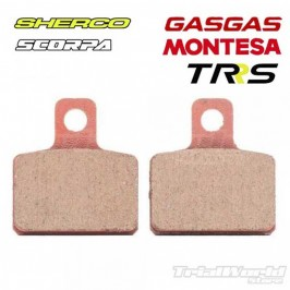 Rear brake pads GALFER AJP and Braktec