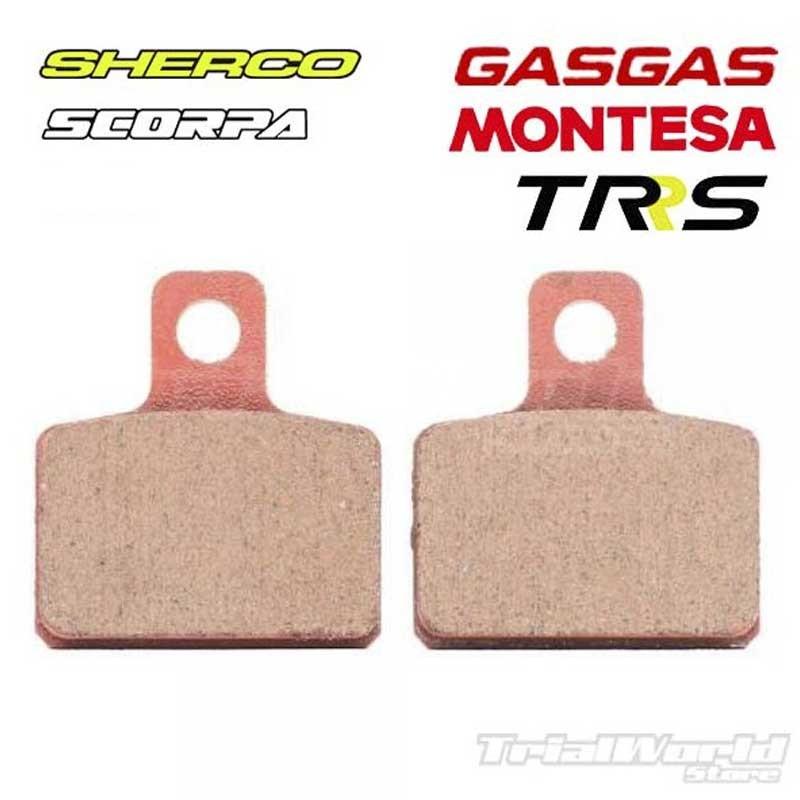 Rear brake pads GALFER AJP and Braktec
