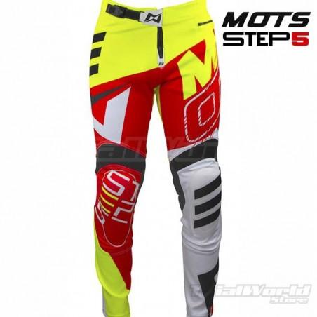 Pantalon de Trial MOTS Step5 Flúor y rojo