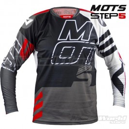 Camiseta Trial MOTS Step5 negro y blanco