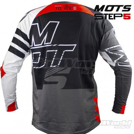 Camiseta Trial MOTS Step5 negro y blanco