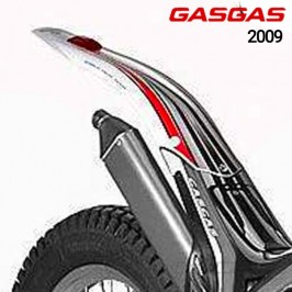Original Gas TXT Pro 2009 rear wing with sticker