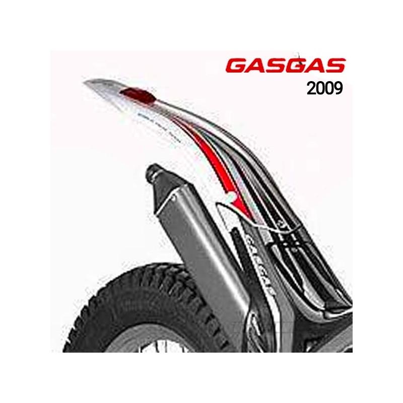 Guardabarros trasero original Gas Gas TXT Pro 2009 con adhesivo