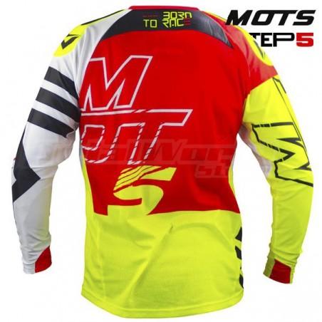 Camiseta Trial MOTS Step5 rojo y fluor