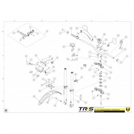 Guardapolvos superior pipa de dirección TRRS