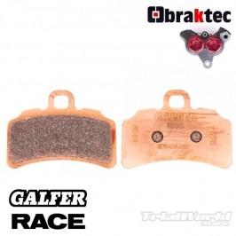 Braktec Monoblock sintered GALFER brake pads