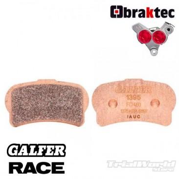 Pastillas de freno delantero GALFER sintetizadas Braktec monoblock