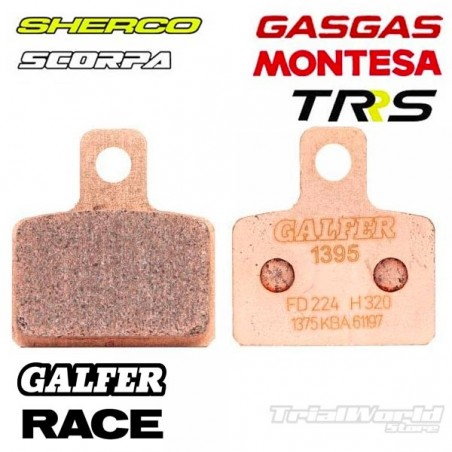 Rear brake pads GALFER AJP and Braktec sintered