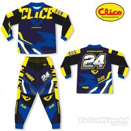 Pijama moto Clice Kids azul 2020