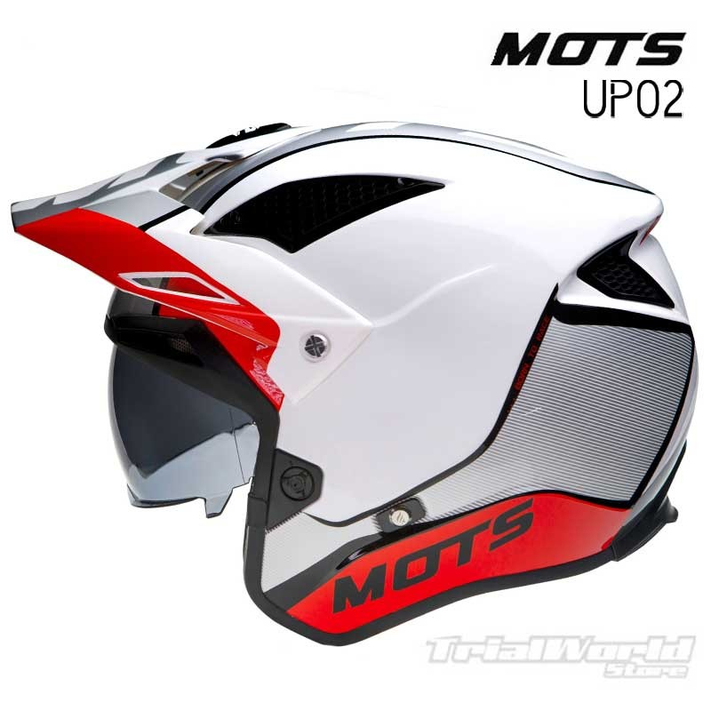 Casco de Trial MOTS Jump UP02 Rojo