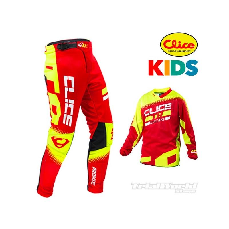 Equipación Trial infantil Clice Promise Kids rojo