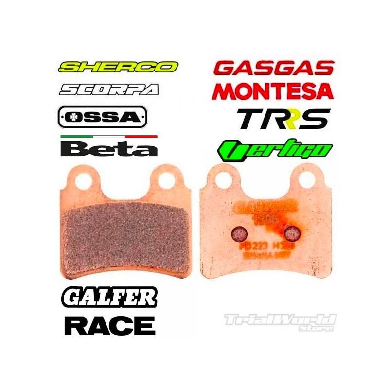 Pastillas de freno delantero trial GALFER sintetizadas