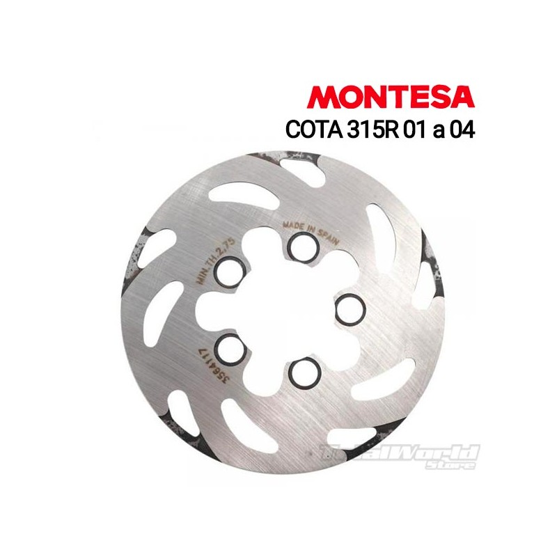 Disco de freno trasero Montesa Cota 315R 2001 a 2004