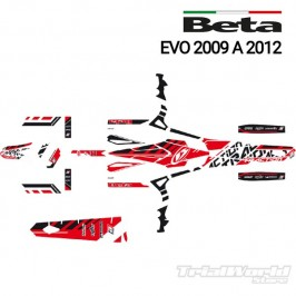 Kit adhesivos Beta EVO 2009 al 2012 blackbird