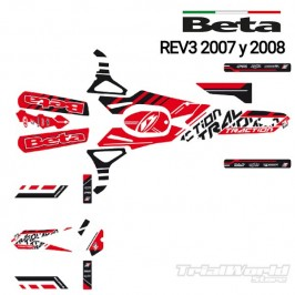 Kit adhesivos Beta REV 2007 al 2008 Blackbird