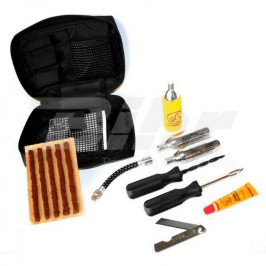 Puncture repair kit for tubeless tyres with patches