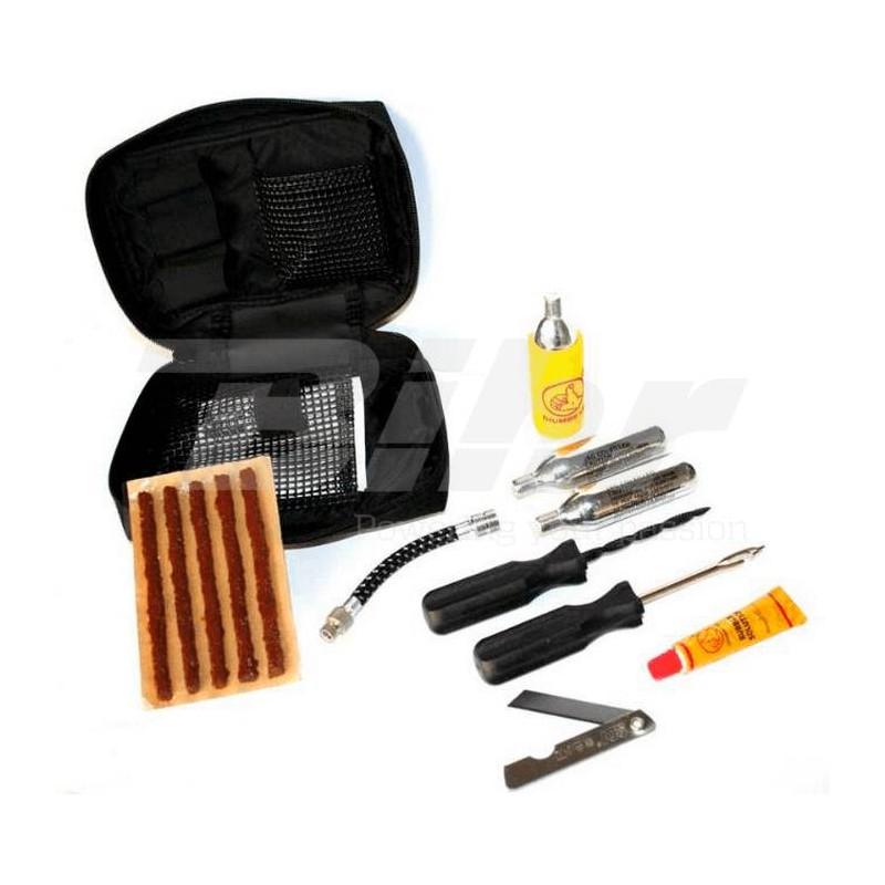 Kit de reparación pinchazos para neumáticos tubeless con parches