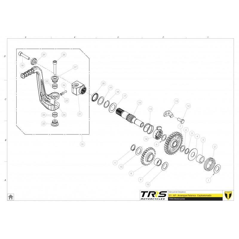 Intermediate starter pinion TRRS