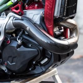 Vertigo Vertical Carbon Fiber Exhaust Protector