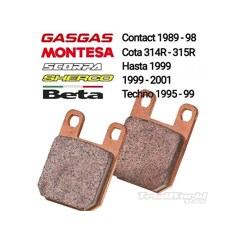 Pastillas de freno sinterizadas Gas Gas Contact, Beta Techno, Montesa 315R y Sherco 99-01