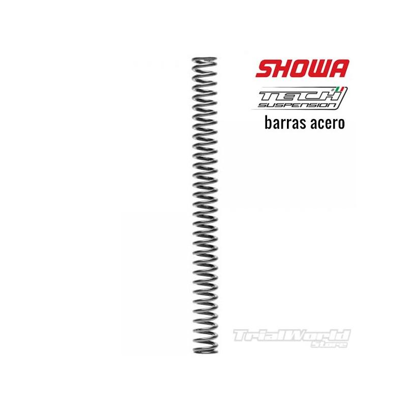 Muelle horquilla Tech y Showa 39mm barra acero