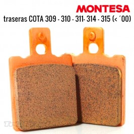 Rear brake pads Montesa Cota 309 310 311 314R and 315R